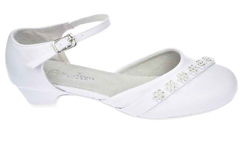 Buty Komunijne Dziewczece Balerinki Biale Komunia American K 3 17 Shoes Heeled Mules Heels