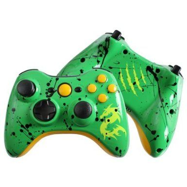 Amazon.com: Custom Xbox 360 Controller Special Edition Emerald Dragon Rechargeable Controller: Video Games #customcontroller #custom360controller #moddedcontroller #Xbox360controller