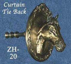 Horse Head Curtain Tie Back Zh 20 Ksid Equestrian