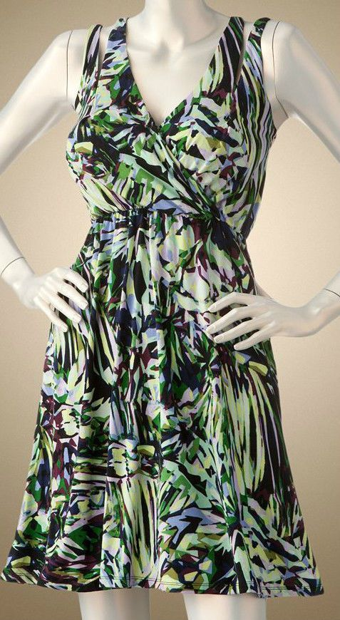 Jennifer Lopez JLo Kaleidosclope Floral Ruched Crossover Dress #JLO #Maxi #Casual