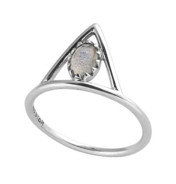 Image of Moon Flare Ring {STERLING SILVER}