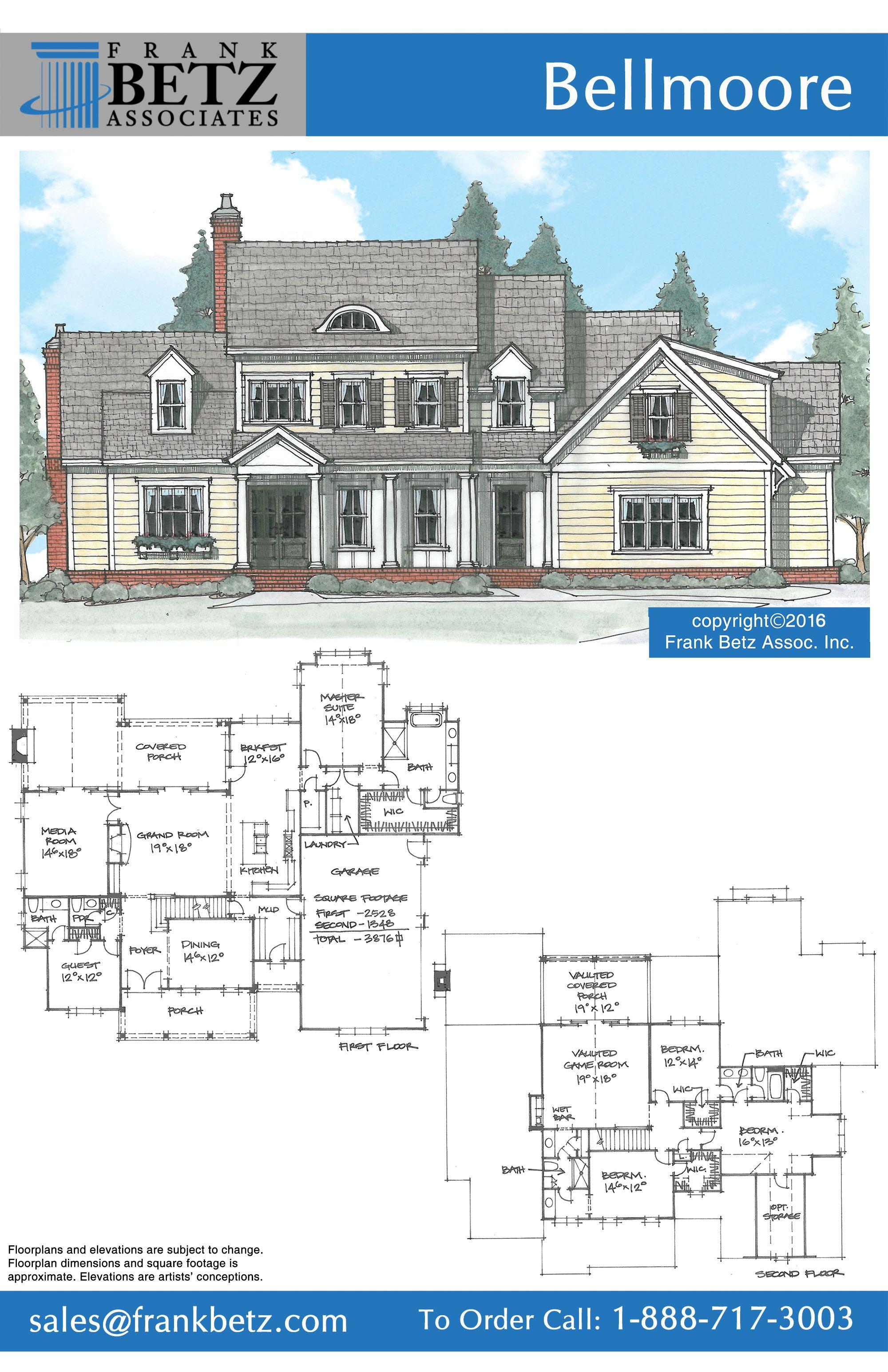 Elevation Castle Plans Frank Betz House Plans