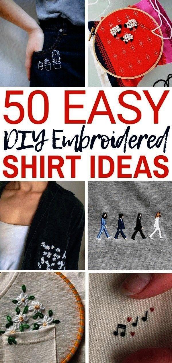 Embroidery Shirt Designs You Can Do By Hand  The Thrifty Kiwi50 Easy DIY Embroidery Shirt Designs You Can Do By Hand  The Thrifty Kiwi Custom zodiac tshirt Zodiac shirt Z...