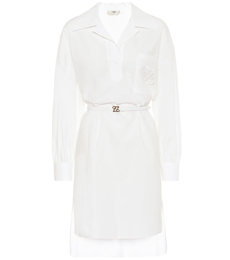 Cotton Shirt Dress Fendi Mytheresa Cotton Shirt Dress White Cotton Dress Fashion [ 1088 x 962 Pixel ]