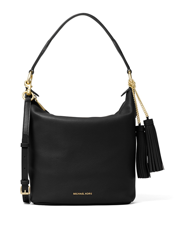228e337a7963 MICHAEL Michael Kors Elana Large Convertible Shoulder Bag, Black, Women's