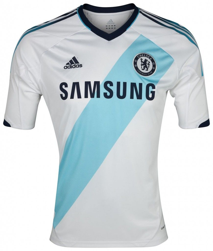 8a8ad718772 Adidas Chelsea 12-13 Kit | iSoccer | Chelsea soccer, Football shirts ...