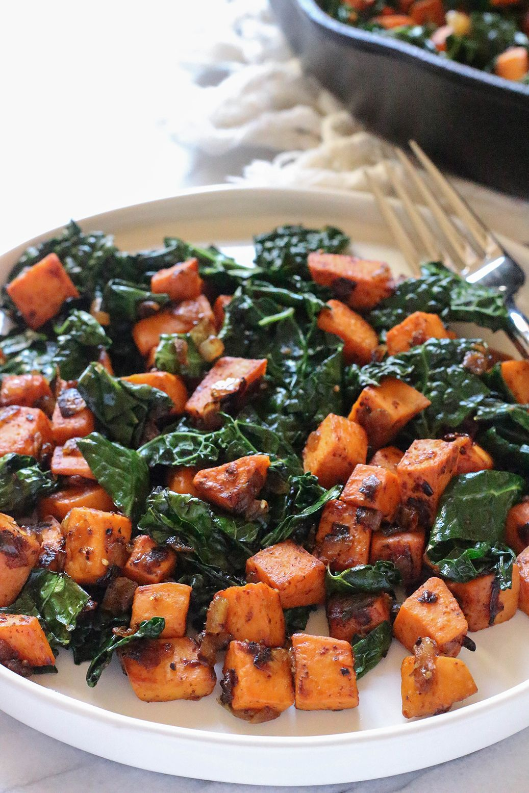 Sweet Potato And Kale Hash Vegan Gluten Free Food