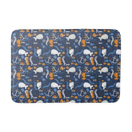 Ocean Style Bathroom Mat Bathroom Idea Ideas Home Living Diy - Black and white polka dot bathroom rugs for bathroom decorating ideas