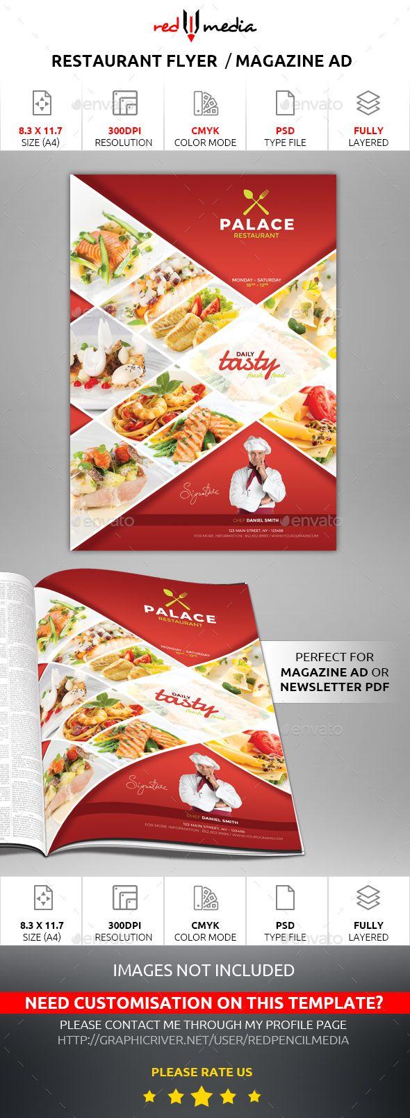 Restaurant Flyer  Magazine Ad  Magazine Ads Ads And Magazines