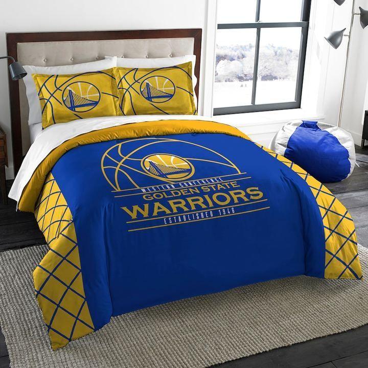 Golden State Warriors Reverse Slam Full/Queen Comforter Set By Northwest,  Multicolor