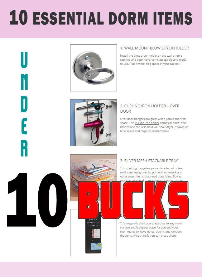 Dorm Living 10 Essentials Less Than 10 Dollars Each Blog Organization Dorm Room Organization Dorm