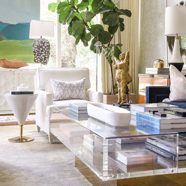 living room design landscape by karen smidth lamps by claire - new miller blueprint co austin
