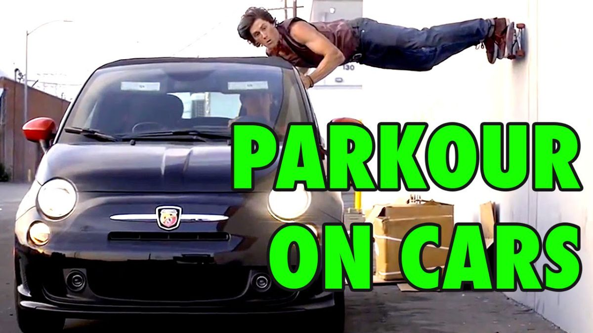 A Series of Incredible Parkour Stunts Performed on Moving Cars