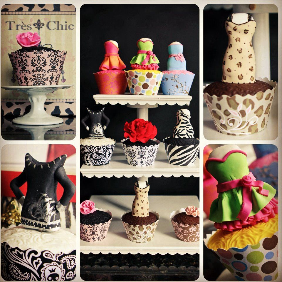 Fashion Cupcakes by Juicy Desserts