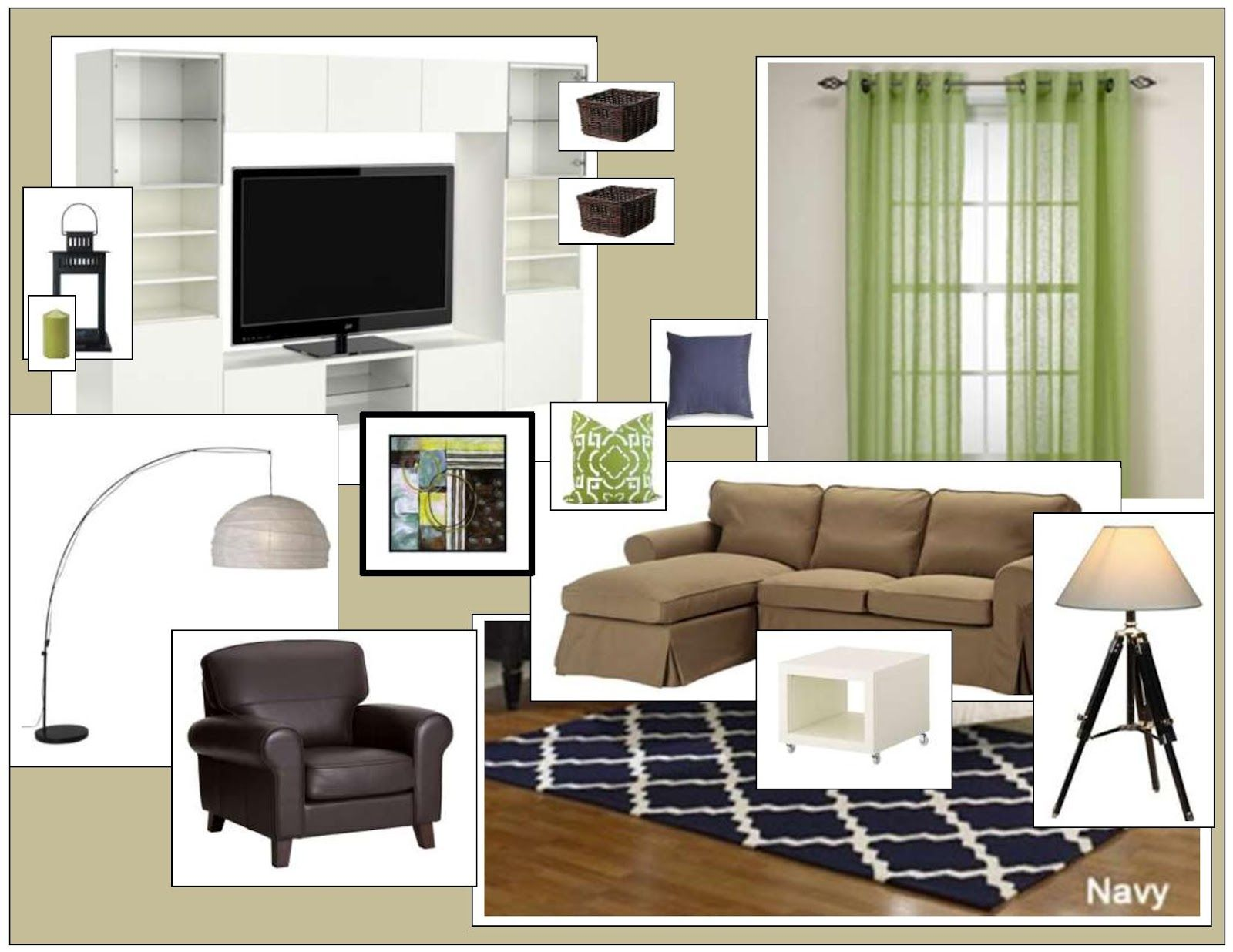 Paint and Parsley: Navy and Lime Living Room   For the Home ...