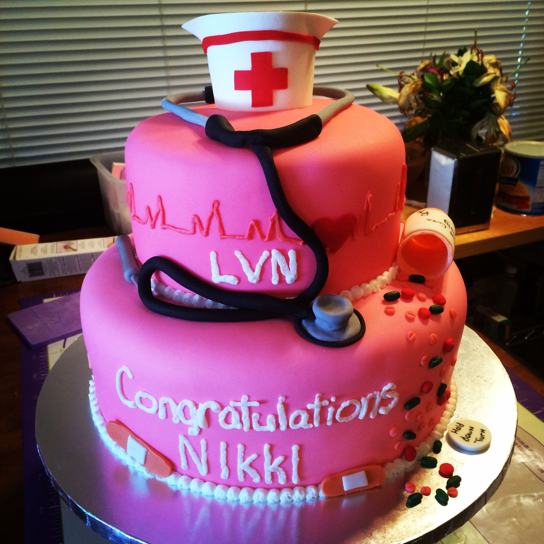 Lvn Nurses Graduation Cake