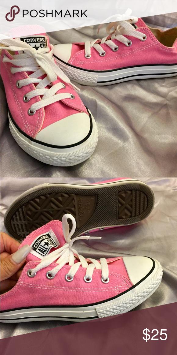 e80a00ff7753a5 italy kids size 3 white converse 417e9 8e699  closeout size 3 converse pink  converse. worn once converse shoes sneakers 4c627 b217b