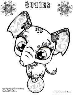 Cuties Alphabet Coloring Pages