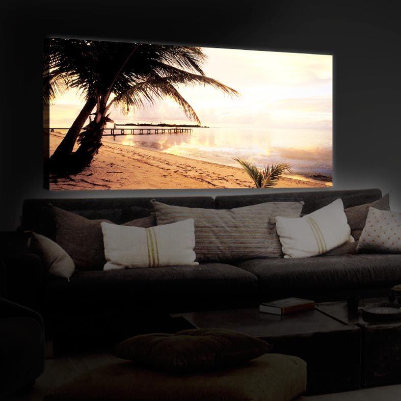 LED Leuchtbilder, Modell DOMINICANA BEACH   Originelle Bilder Mit  LED Hinterleuchteten Fotomotiven. Dekoration Beltrán, Ihr Online Shop Für  Wand Deko.