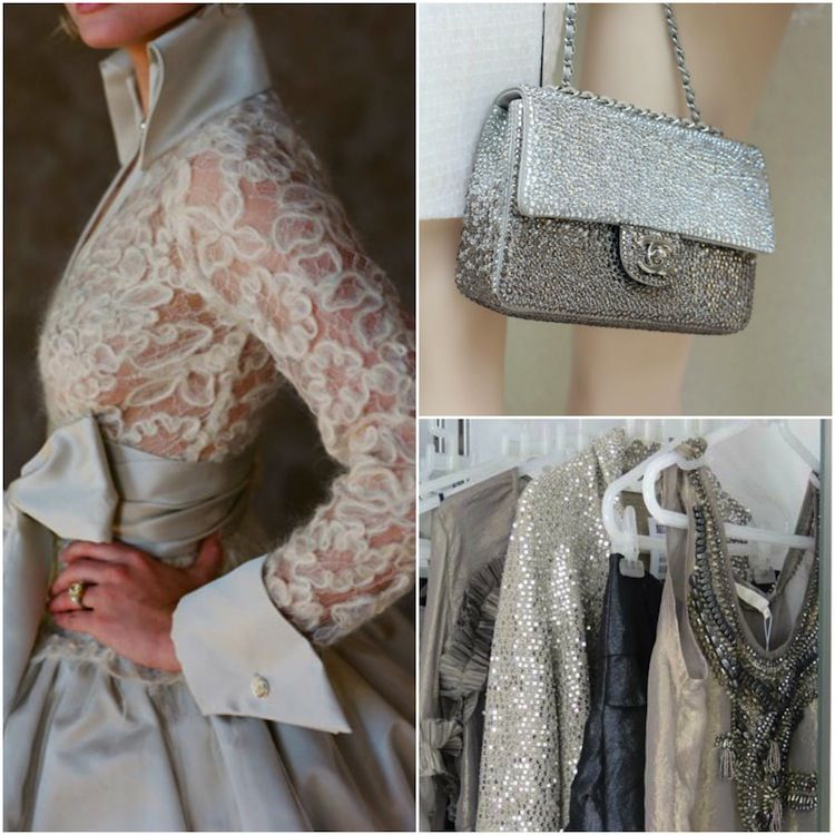 Silver Wedding Anniversary Gowns: Shine In A Silver #wedding Palette...