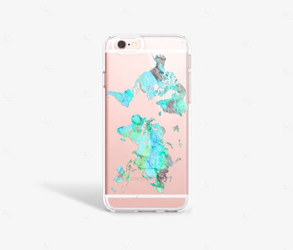 World Map iPhone 6s Case Mint iPhone 6S Plus Case Map iPhone 6 ...