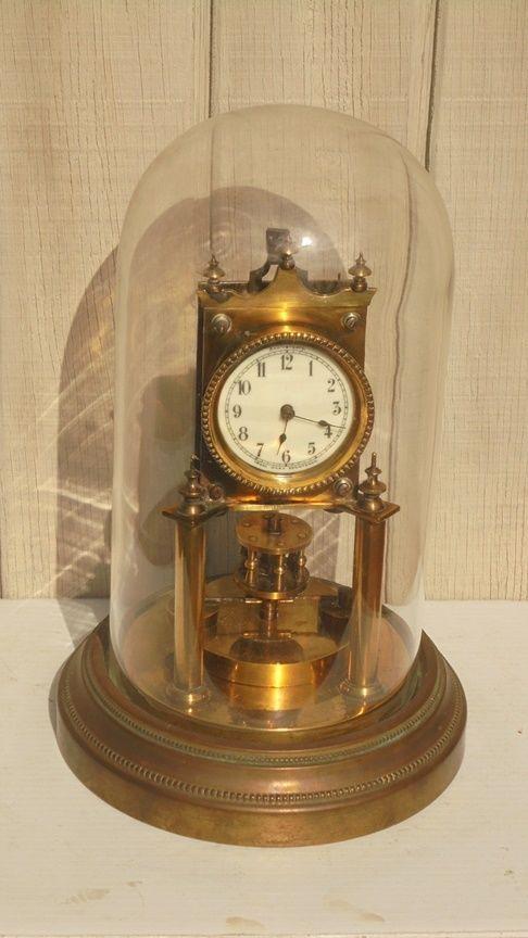 ef1966579bd Antique Disc Pendulum Anniversary Trade Mark Reg 400 Day Clock c. 1904