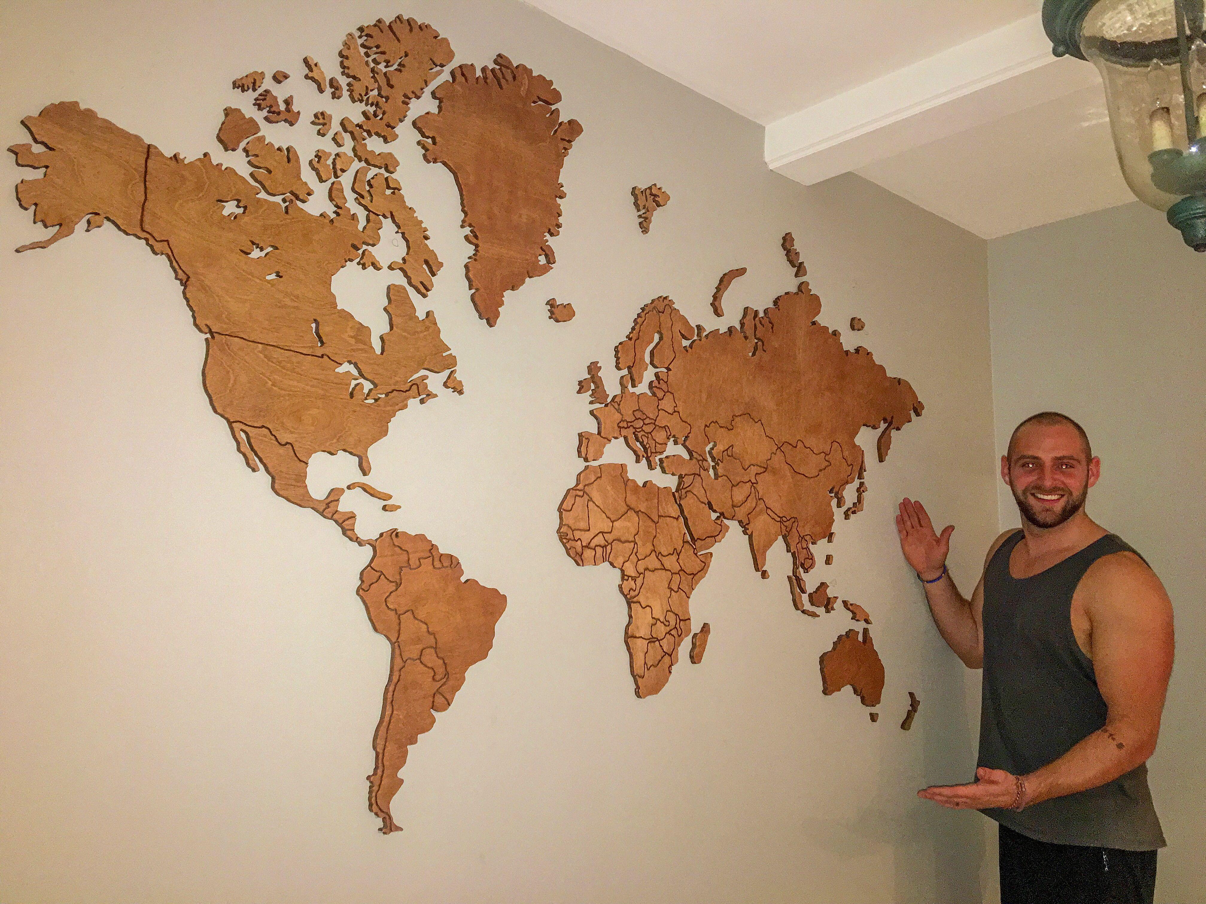 Map Diy Wall Art Wall Maps Wooden Map