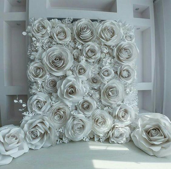 30 Unique And Breathtaking Wedding Backdrop Ideas Page 2 Of 2 Weddinginclude Paper Flower Backdrop Wedding Flower Backdrop Wedding Diy Wedding Backdrop