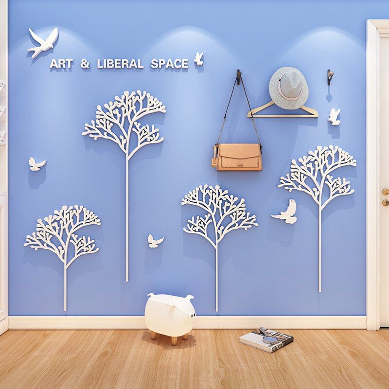 Ws168 Creative Ins Style Art Space Sticker Living Room Bedroom Sofa Simple Background Wall 3d Stereo Wall Sticker In 2021 Sticker Decor Simple Sofa Living Room Bedroom Living room background wall sticker
