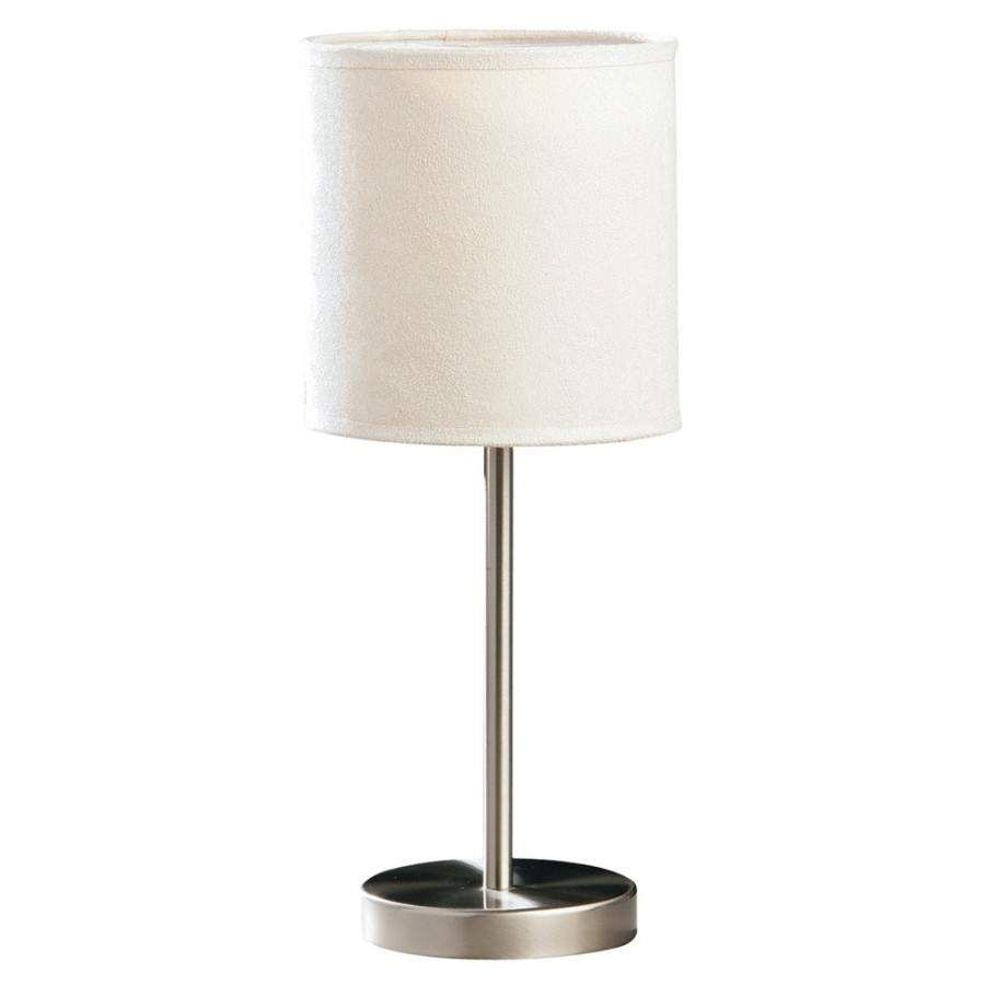 Table Lamps At Home Depot Inspiration Brushed Steel Table Lamp Lighting And Ceiling Fans Clear Table Lamps Decorating Design
