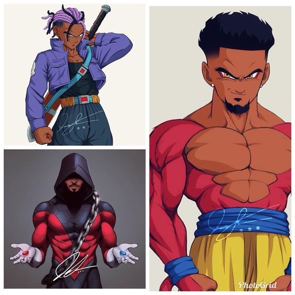 Pin By Jamaal Porter On Custom Black Anime Characters Black