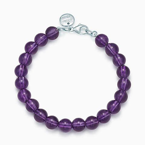 d4ce877aa Paloma Picasso® bead bracelet in amethyst with sterling silver clasp ...
