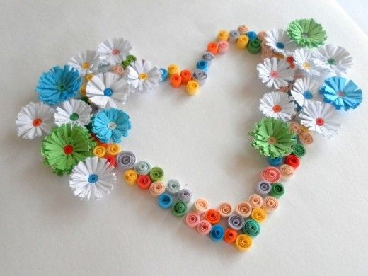 Paper quilling fun craft projects and ideas for valentine for Paper quilling art projects