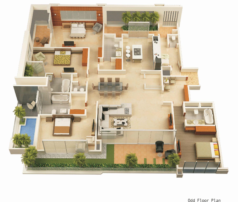 3d House Plan Design House Layout Plans House Layouts House Floor Plans