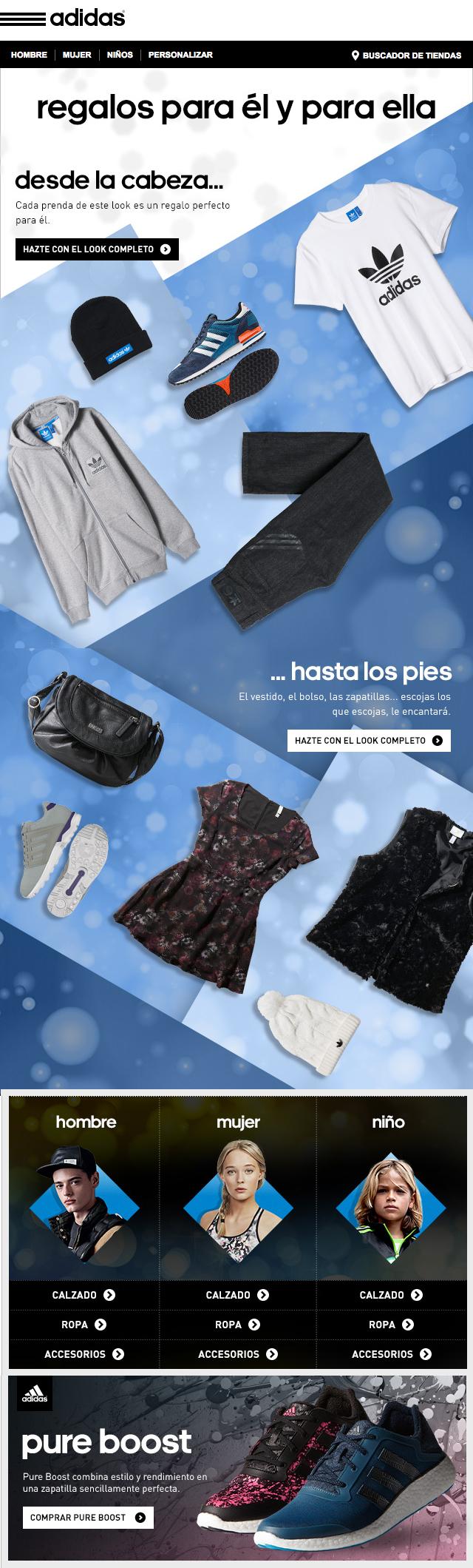 fatiga Apto borgoña  Adidas Newsletter FW14   Email layout, Newsletter design, Email design