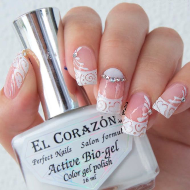 - Beautiful White Tip Nails Designs Specially For You