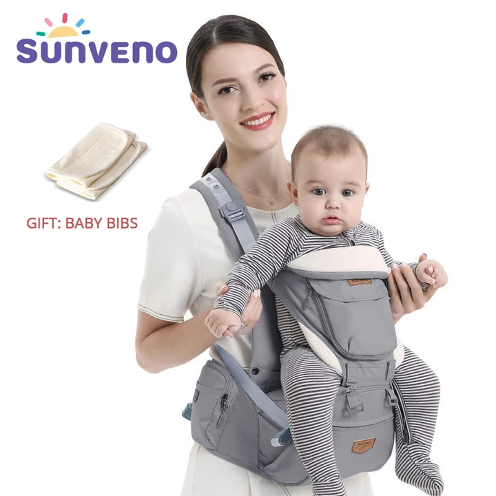Baby Carrier Hip seat,4-in-1 Ergonomic Front Facing Carrier Detachable Comfortable for 0-3 Years Baby