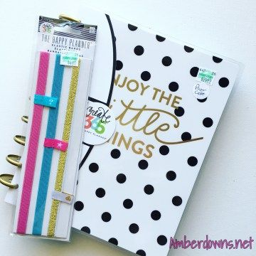 """2016-2017 MAMBI Happy Planner Review """"Enjoy the little things""""   Amber Downs"""