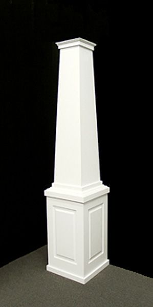 Tapered pvc porch columns curb appeal products home for Permacast columns pricing