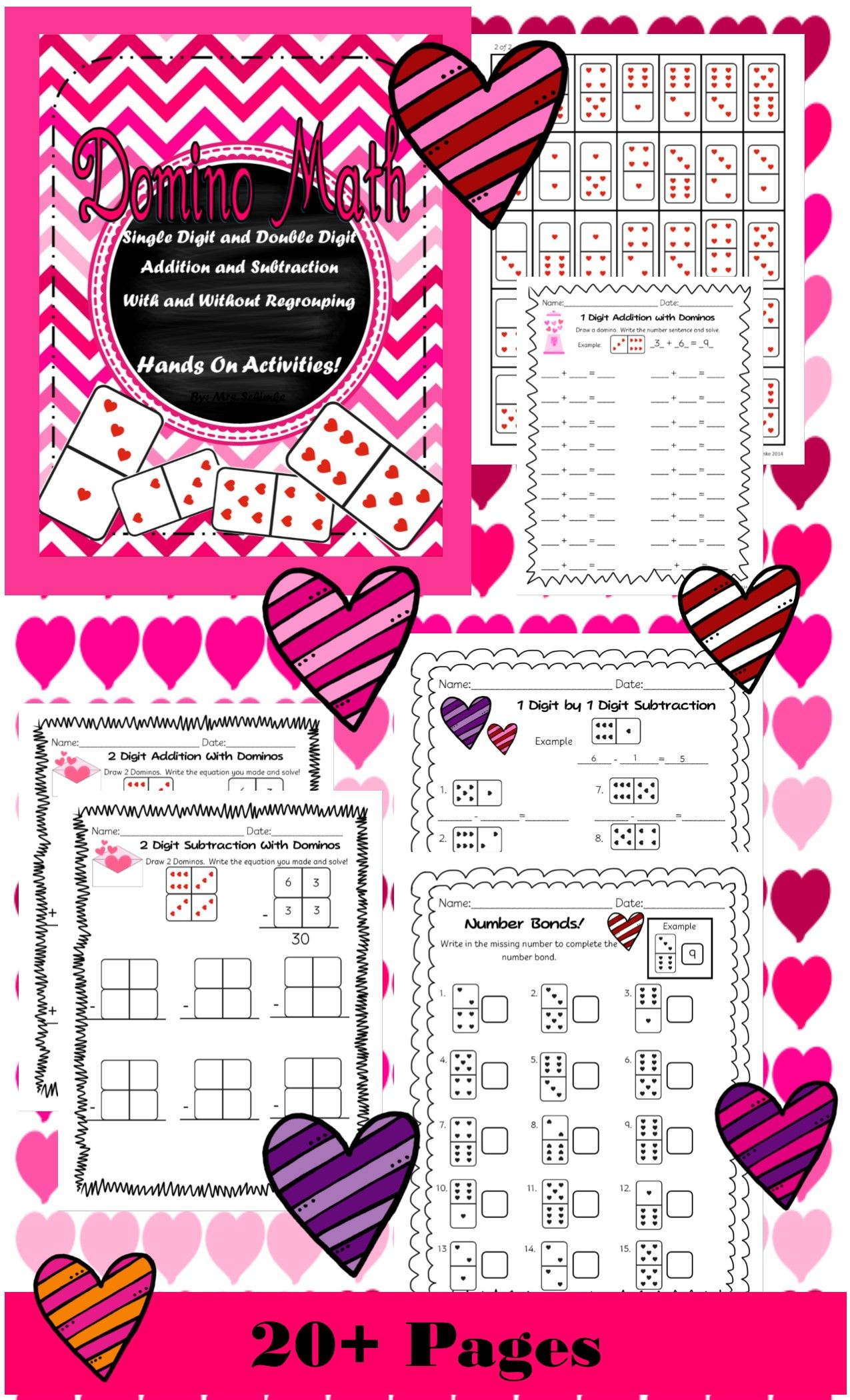Domino Math Addition And Subtraction Practice Ccss