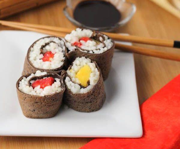 Dessert maki – chocolate rolls #dessertsushi