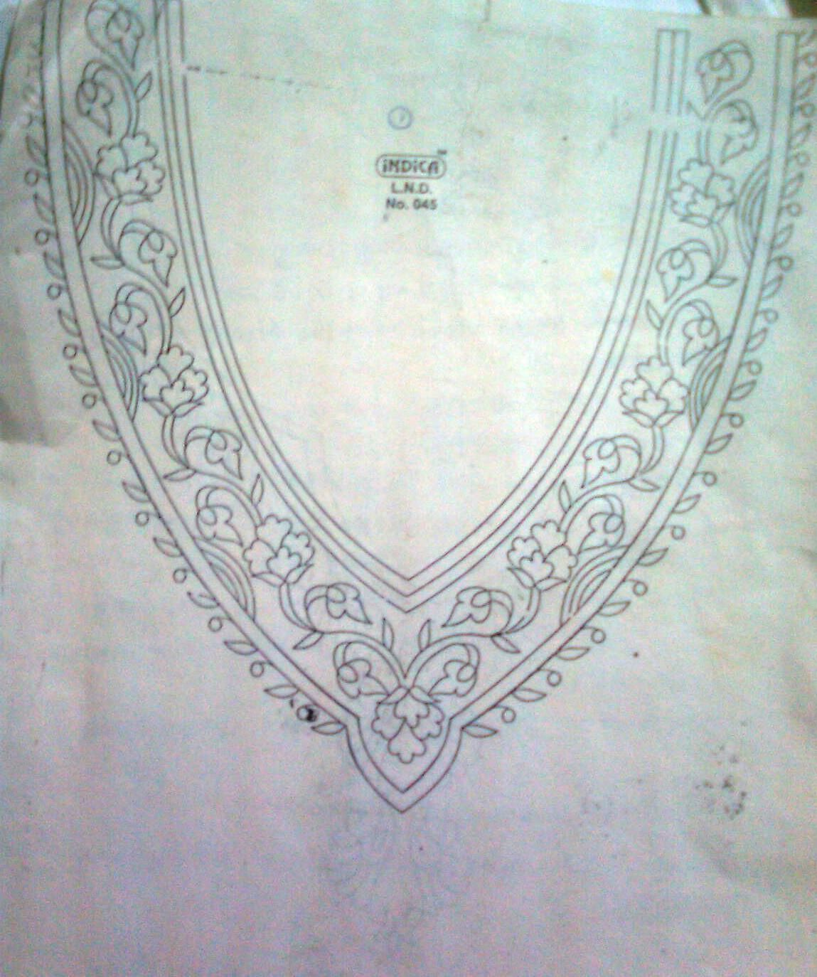 Here are some of hand embroidery neck designs for Kurtis or Salwar ...