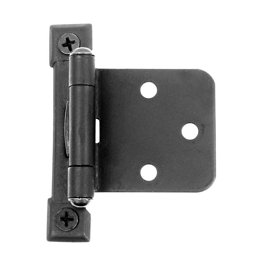 Acorn Manufacturing Flush Overlay Semi Concealed Hinge Black Iron Aj4bq Self Closing Hinges Decorative Hinges Black Iron