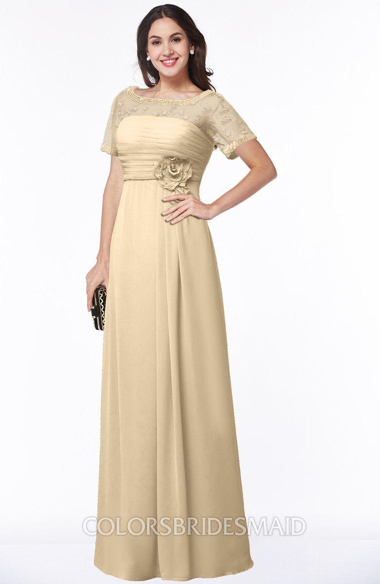 c0112b202ca2b ColsBM Amanda Traditional Short Sleeve Zip up Chiffon Floor Length Flower  Bridesmaid Dresses #colsbm #bridesmaids #bridesmaiddress #weddings .