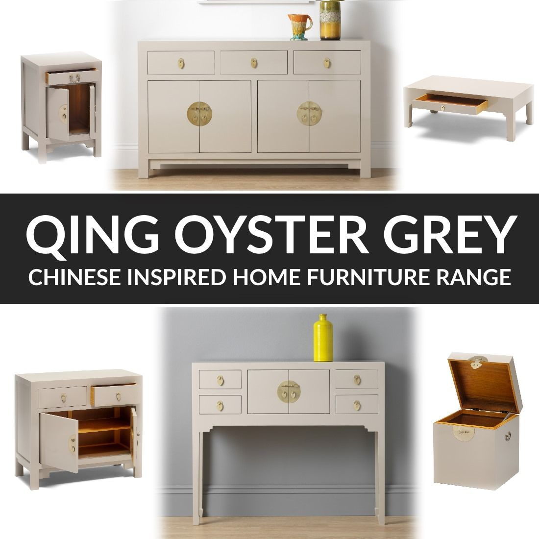The Baumhaus Nine Schools Qing Oyster Grey Chinese Inspired Home Furniture Range From 121