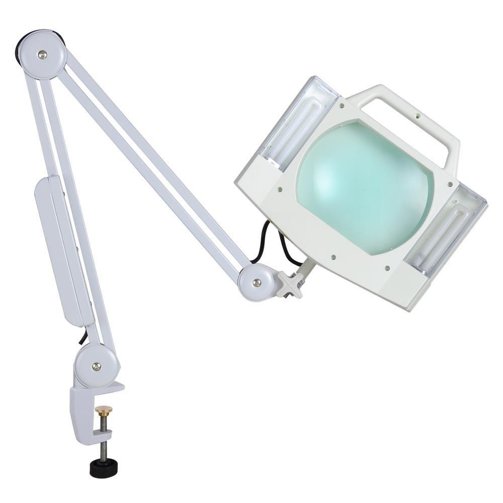 Yescom Magnifying Desk Lamp W Clamp 5x Square Tabletop Magnifier Lamp Magnifying Desk Lamp Clamp On Desk Lamp