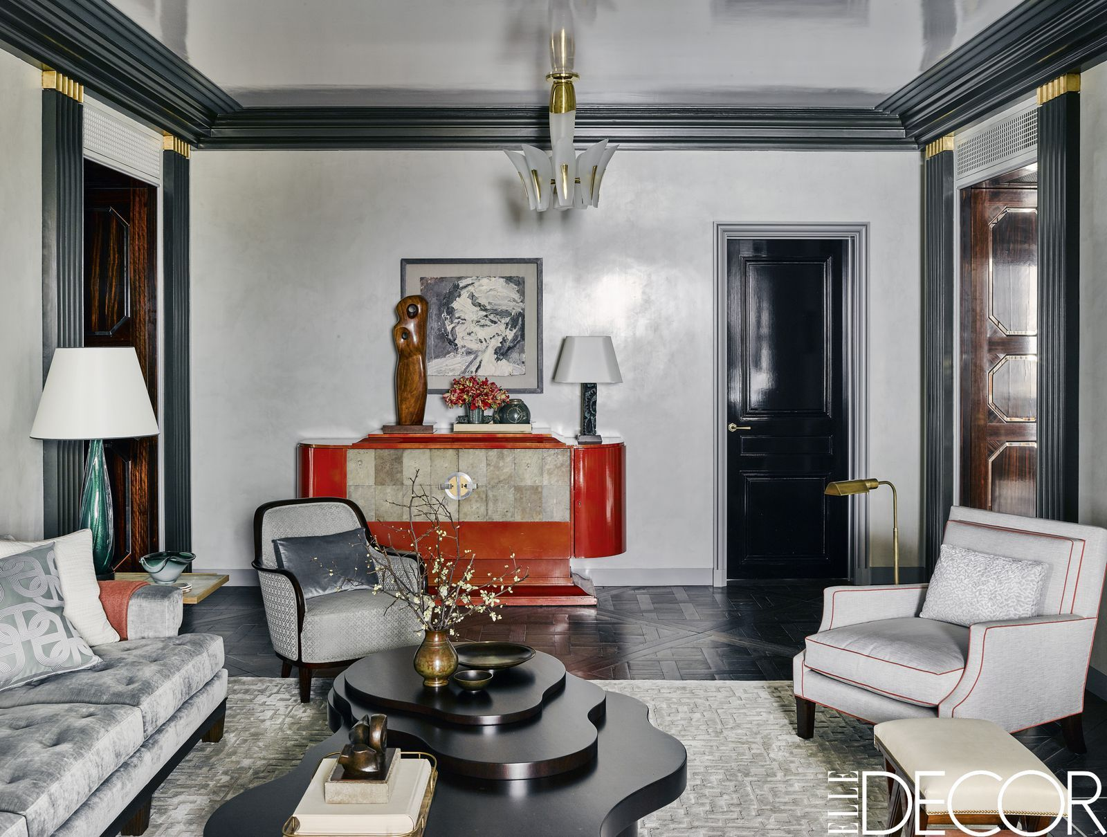 This Art Deco Apartment In Chicago Is All About Personal Style Interior Deco Art Deco Living Room Art Deco Interior Design