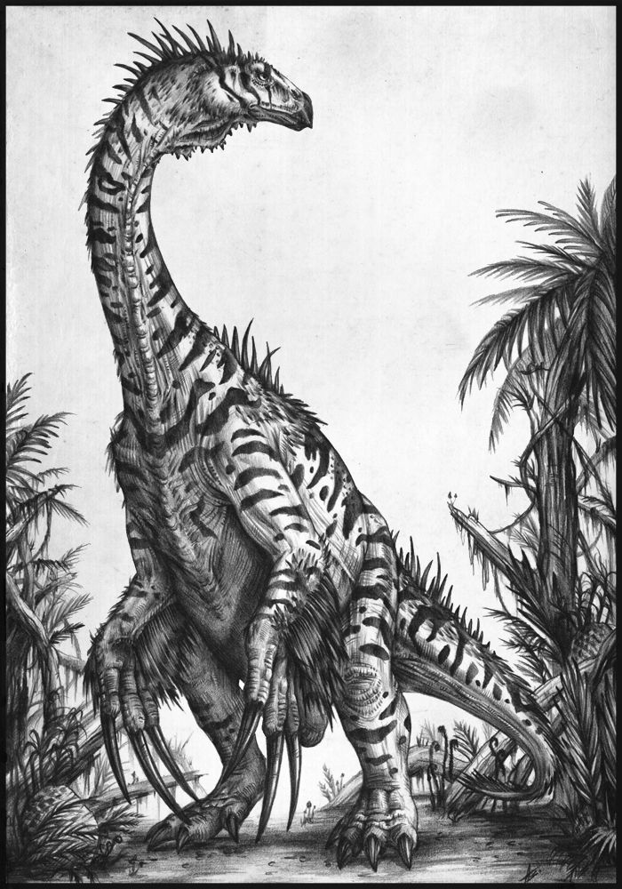 Therizinosaurus II by *AntarcticSpring @ deviantART http://antarcticspring.deviantart.com/