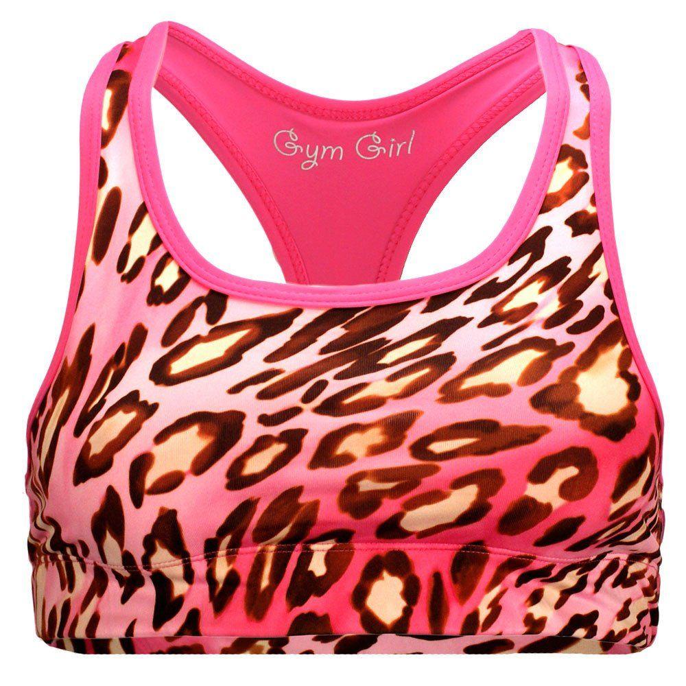 Reversible Sports Bra in Pink Leopard Pink leopard, Bra