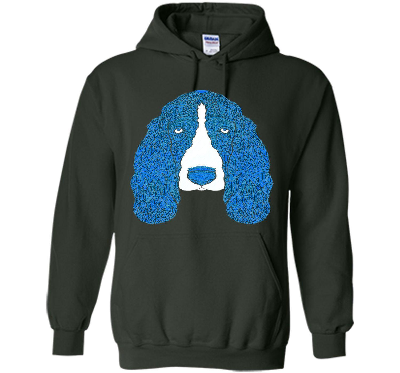Blue and White Basset Hound T-Shirt